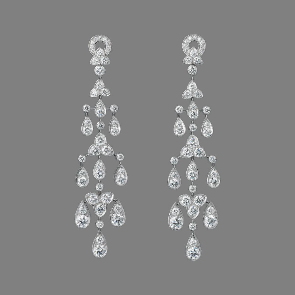 卡地亞頂級珠寶系列鑽石耳環