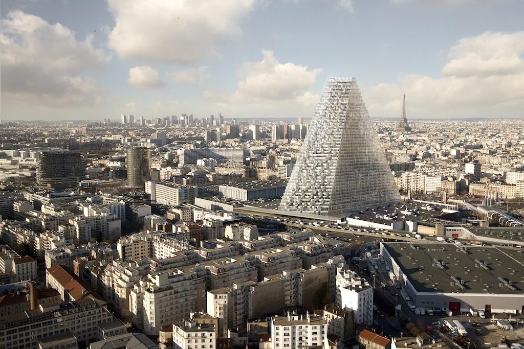 Triangle, Porte de Versailles, Paris, France / Vue aérienne vers Paris