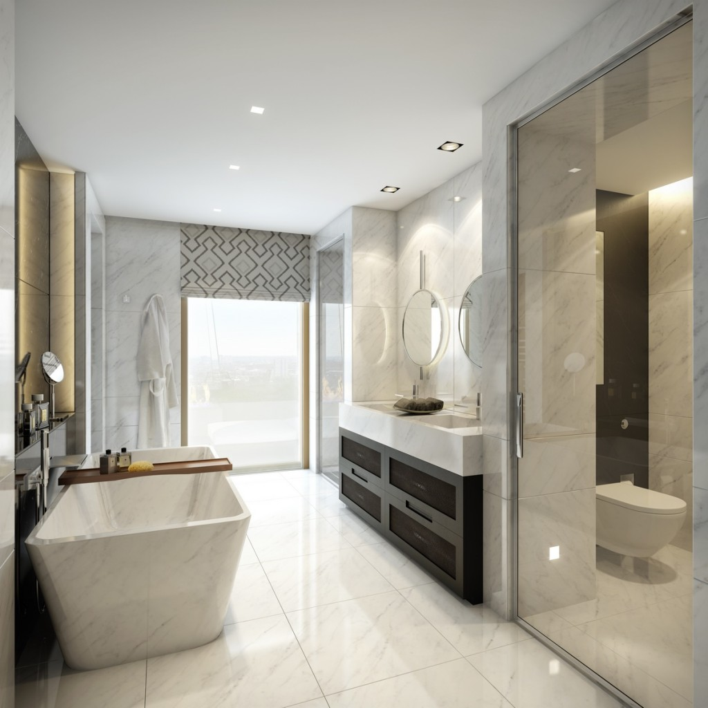 CGI of Platinum Penthouse Bathroom