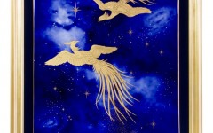 OKURA鳳凰于飛 陶額90x120cm 定價4,800,000元