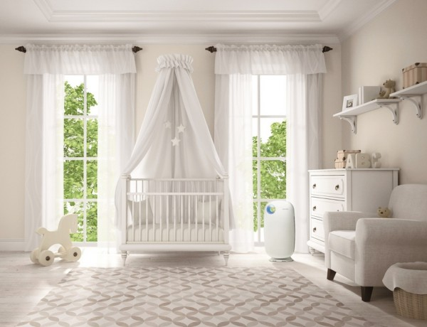 Classic children room with cradle 3D rendering