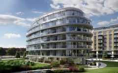 Exterior CGI of Block G at Fulham Reach