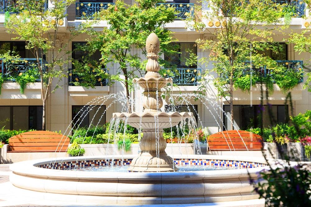 中庭花園噴泉廣場1
