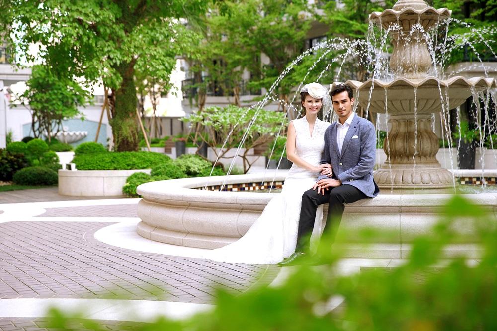 中庭花園噴泉廣場2