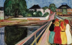 2-1 9567 Munch, Girls on the Bridge