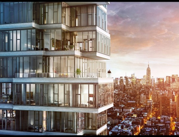 56 Leonard Street Launches Sales in New York City -- Iconic Herzog & de Meuron Tower Begins Rise in Tribeca. (CNW Group/56 Leonard)