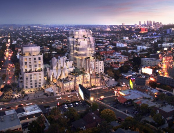 8150 Sunset Blvd_Evening Rendering,圖片註明:Rendering by Visualhouse