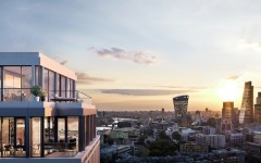 CGI of London Dock Penthouse View