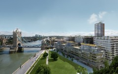 Exterior CGI of View B at One Tower Bridge Development