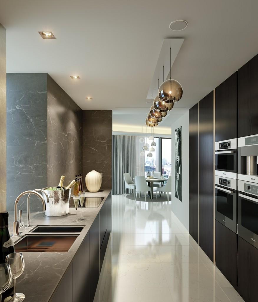 CGI of Duplex Kitchen