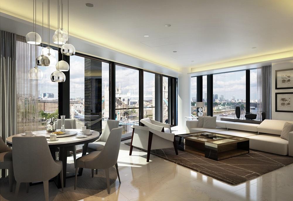 CGI of Duplex Living Room