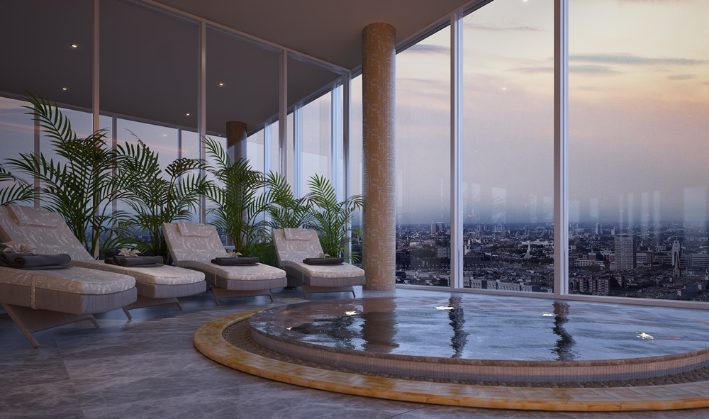 The luxury permiates every element of AYKON Nine Elms with Interiors by Versace Home