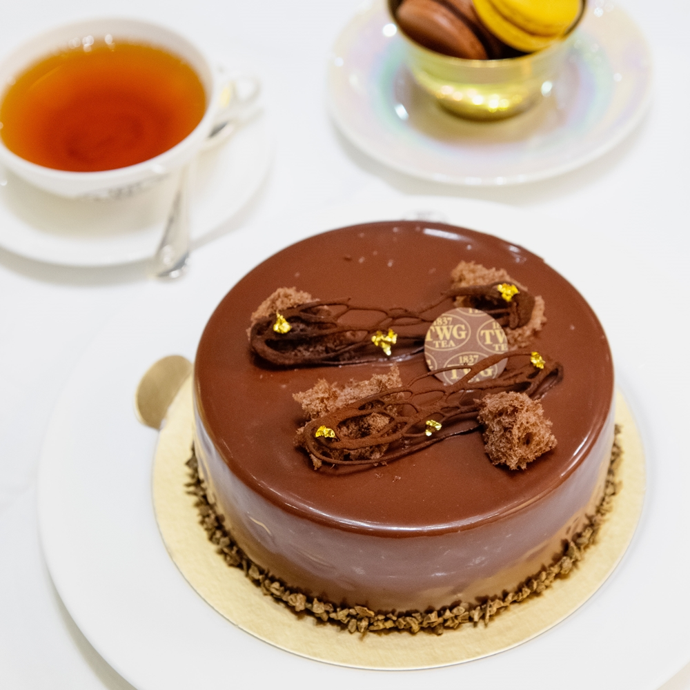TWG Tea 伯爵普洱茶香巧克力慕斯蛋糕(Chocolate Mousse Cake infused with Earl Grey Pu-Erh)