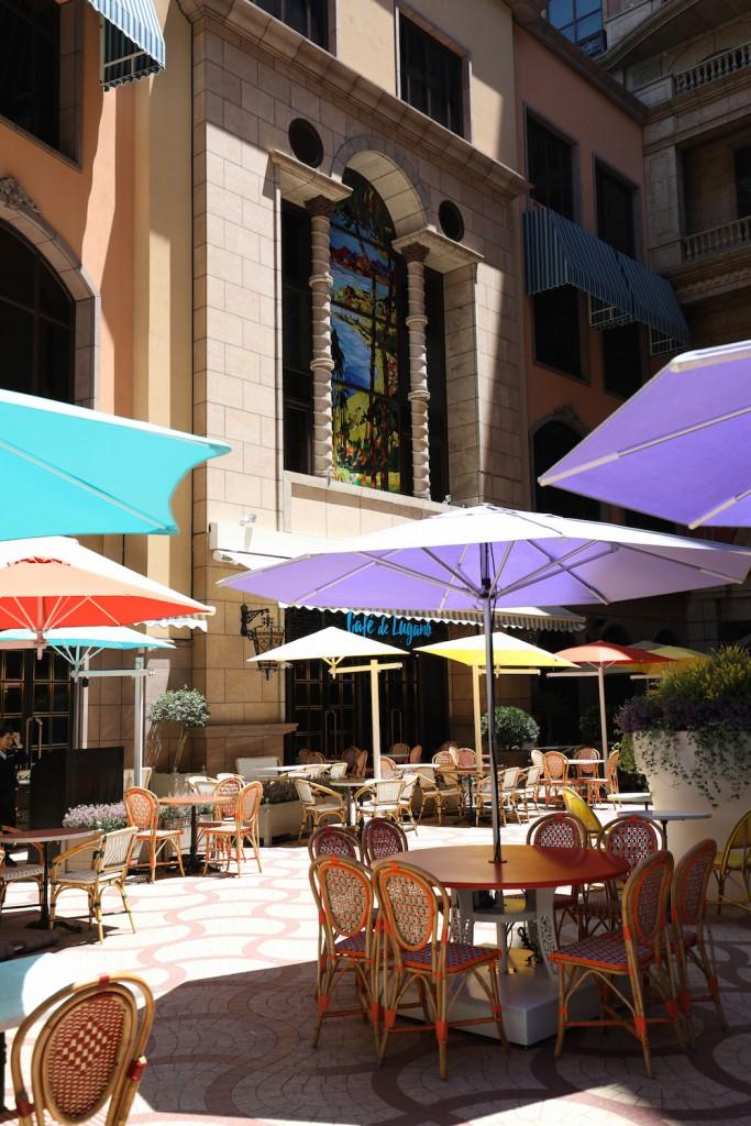 Cafe de Lugano戶外中庭座位區日景-2