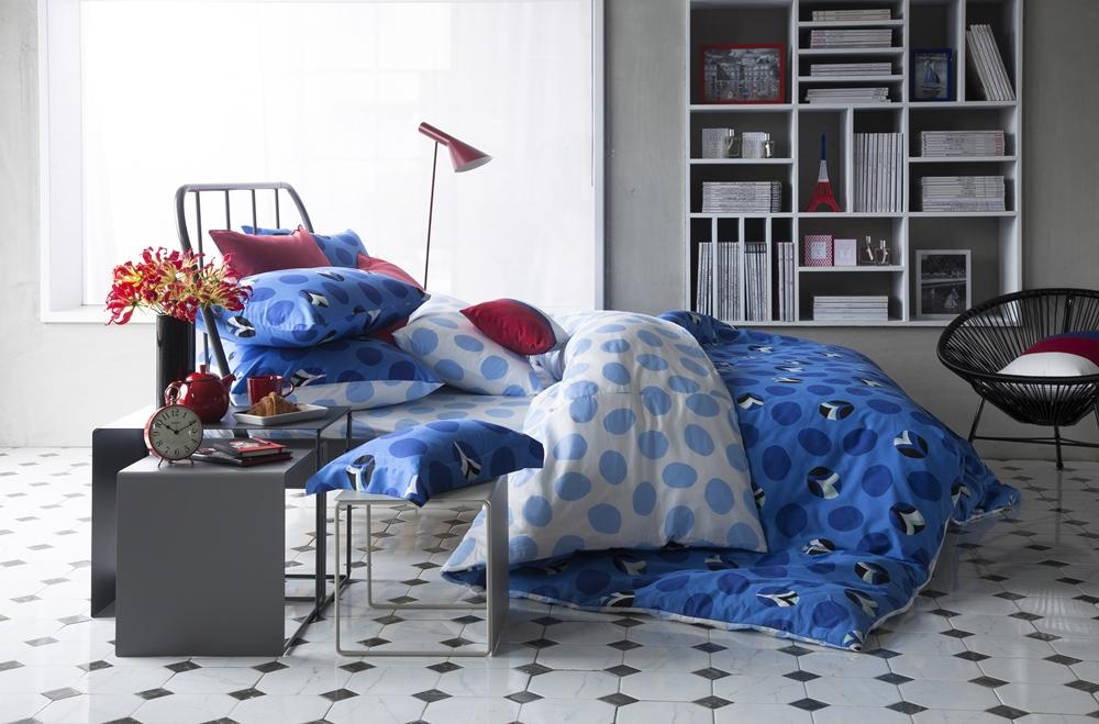 ELLE日安巴黎艾菲爾雙人兩用被四件式床組