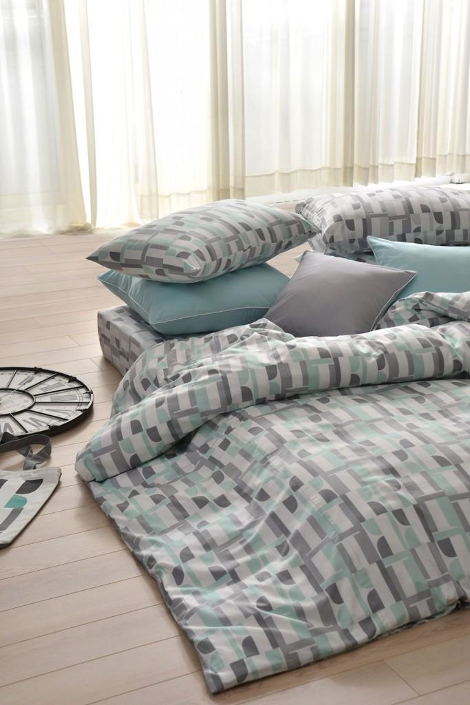 ELLE經典logo三件式涼被枕套床組