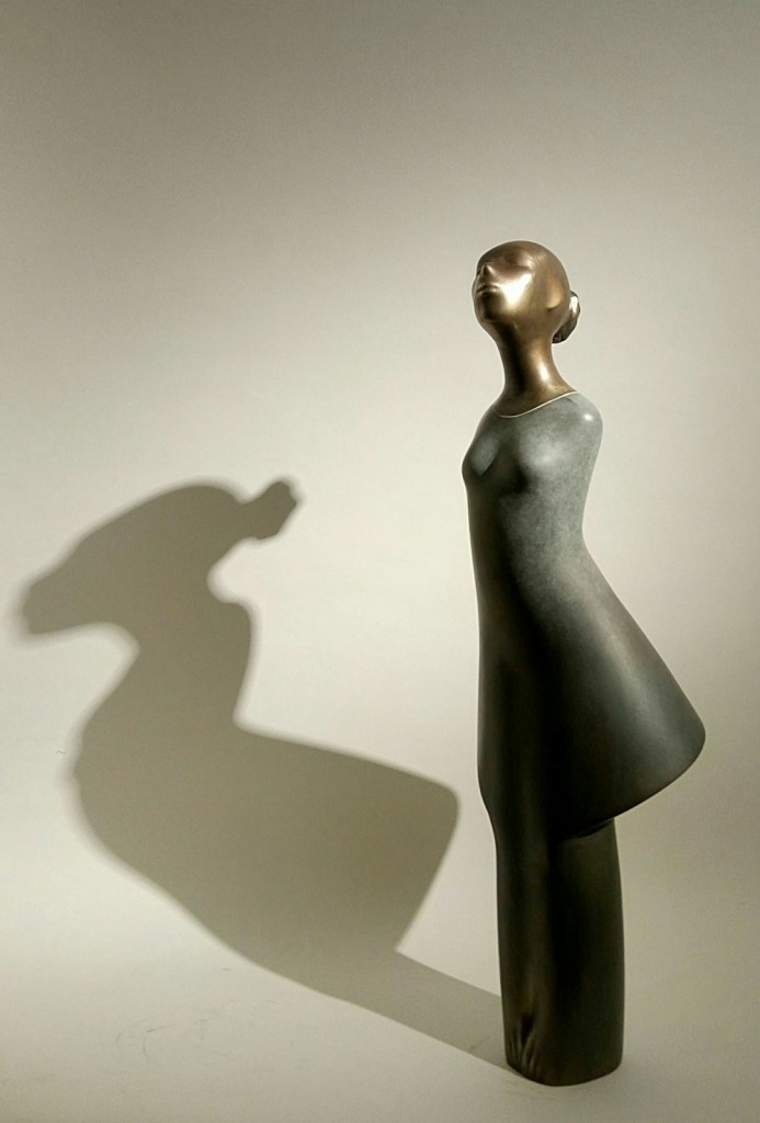 Khaled Zaki《The Daughter》Bronze_24×24×75cm_2016_埃及