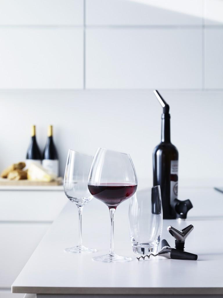 14 度傾斜酒杯系列 - 14度的傾斜紅酒杯 (Bordeaux 波爾多、39cl)_Eva Solo_1,400元_情境圖