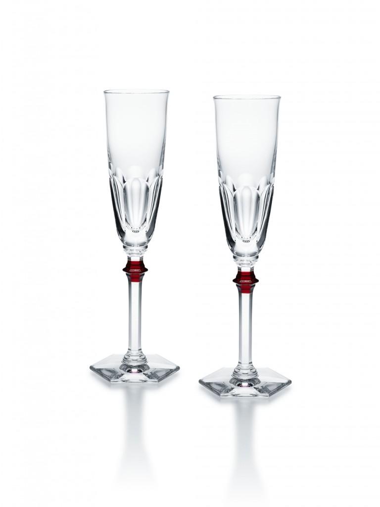 Baccarat HAROCURT EVE哈寇特夫人香檳杯一對H24.5CM
