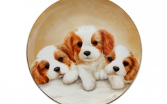 Noritake王者風範 狗年手繪盤36cm 定價328,000元