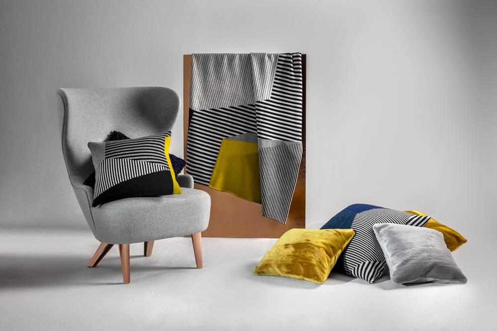 全新的「Super Texture」包含抱枕、披毯、毛毯等,為一向硬派十足的品牌挹注柔美氣息。 (2)