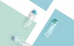 5.THERMOS膳魔師全新酷蓋輕水瓶,3款瓶身24色酷蓋,翻轉一夏時尚72變!(粉藍色)