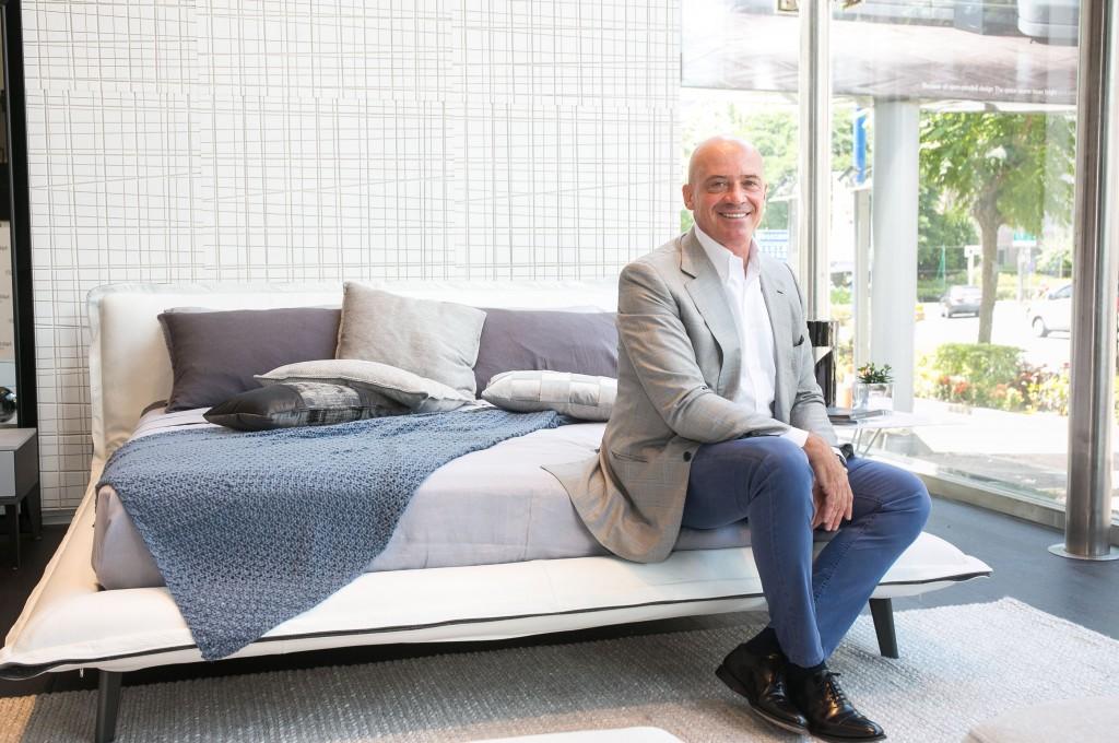 【圖四】NATUZZI與Claudio Bellini合作15年,設計出無數經典家居商品,圖為Piuma (床) 。