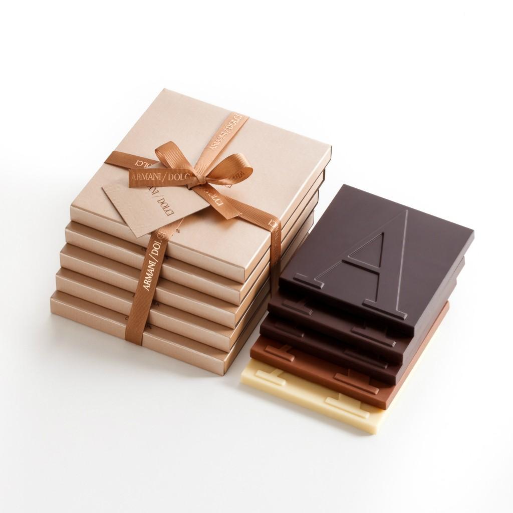Armani Dolci_大A巧克力片_NT$540(玫瑰裸金包裝)