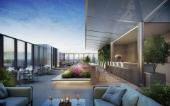 CGI of South Quay Plaza L56 Terrace