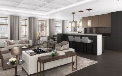 The W1 London Apartment 1.2_Living Room&Kitchen_Final_HighRes