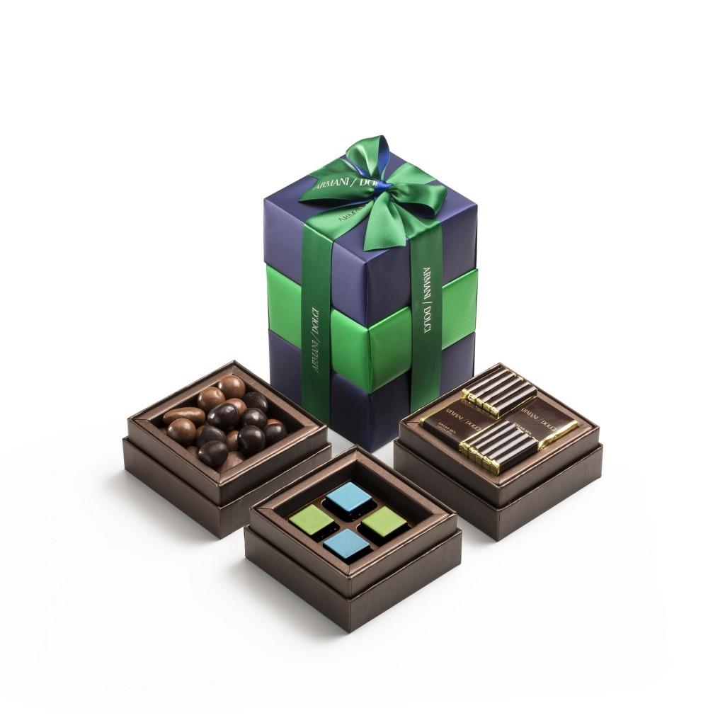 Armani_Dolci_秋冬限定禮盒_包裝設計概念來自日式便當盒多層裝的靈感啟發,希望讓每位收到的人都可以感受到客製搭配的專屬心意。