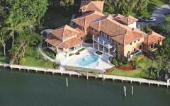 Luftaufnahme von Luxusvilla in Coral Gables, Miami, Florida
