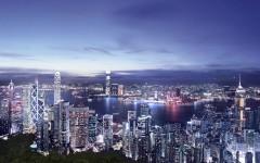 香港夜景有ICC 高檔