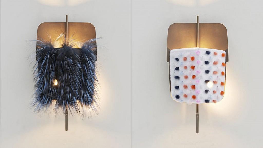 FF VELUM fur wall lamps_1