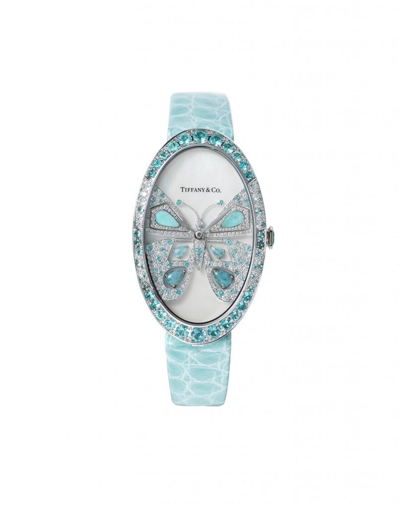 大中華地區Tiffany高級珠寶腕錶系列,Tiffany Cocktail 高級珠寶腕錶 – 蝴蝶 NT$3,105,000