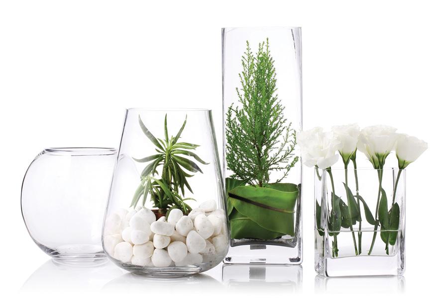 透明玻璃花器系列(不含內容物)