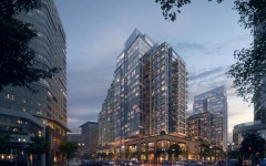 (061317 Boston, Ma) A rendering of the Echelon Seaport development at Seaport Parcel M1 and M2 by Cottonwood Management. Courtesy of KPF Associates