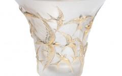 10623900 - Vase Hirondelles GM incolore tamponen or - BD