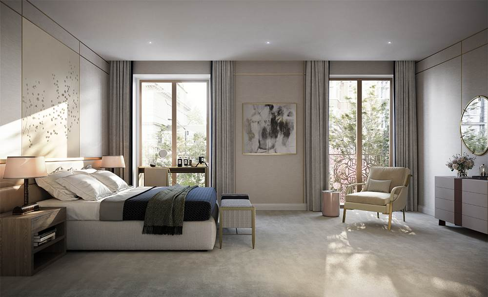 Twenty Grosvenor Square, master bedroom CGI LR