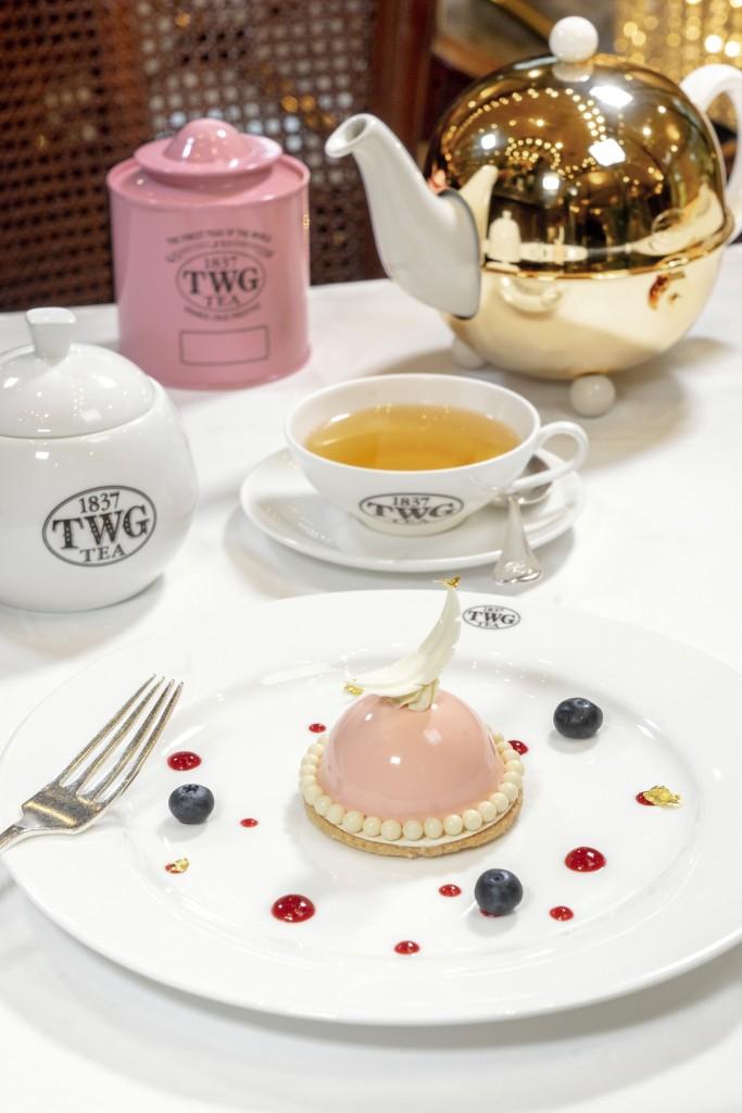 2. TWG Tea 母親節限定套餐(Mother's Day Set Menu)甜點-金色玫瑰茶(Golden Rose Tea)香玫瑰荔枝慕...