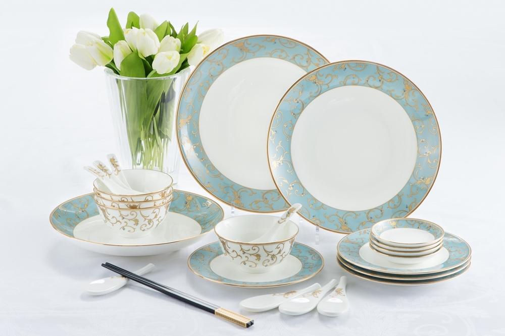 『Anatolia Blue藍色土耳其』系列4人份中式餐具20件組歡慶價18,500元,喜愛精緻餐瓷的消費者千萬不要錯過!