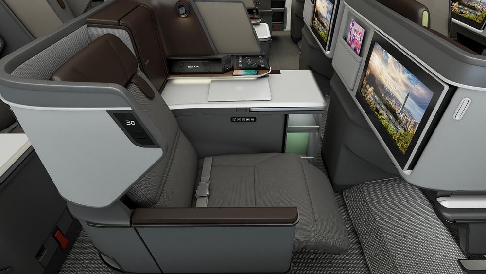 【圖一】長榮航空特別邀請BMW集團旗下的Designworks設計團隊,以空間感及品牌為核心,跳脫傳統思維,創造更寬敞的空間感受。