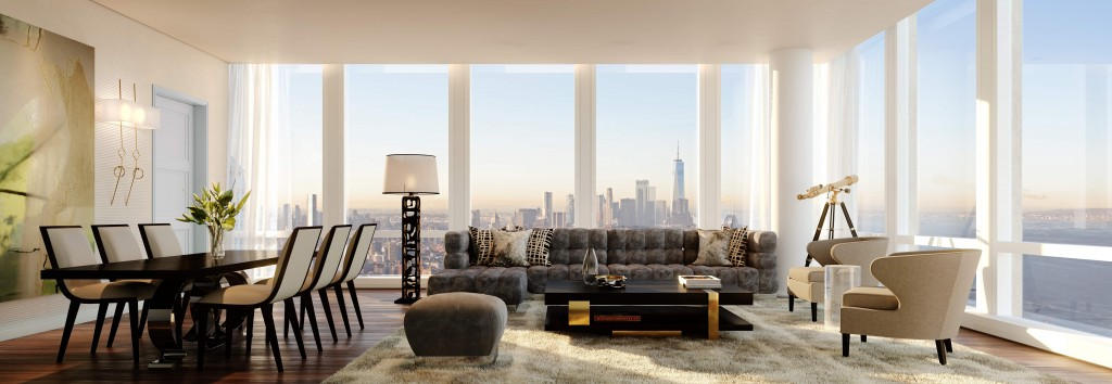 (1)35 Hudson Yards Great Room with Hudson River Views - courtesy of Related-Oxford