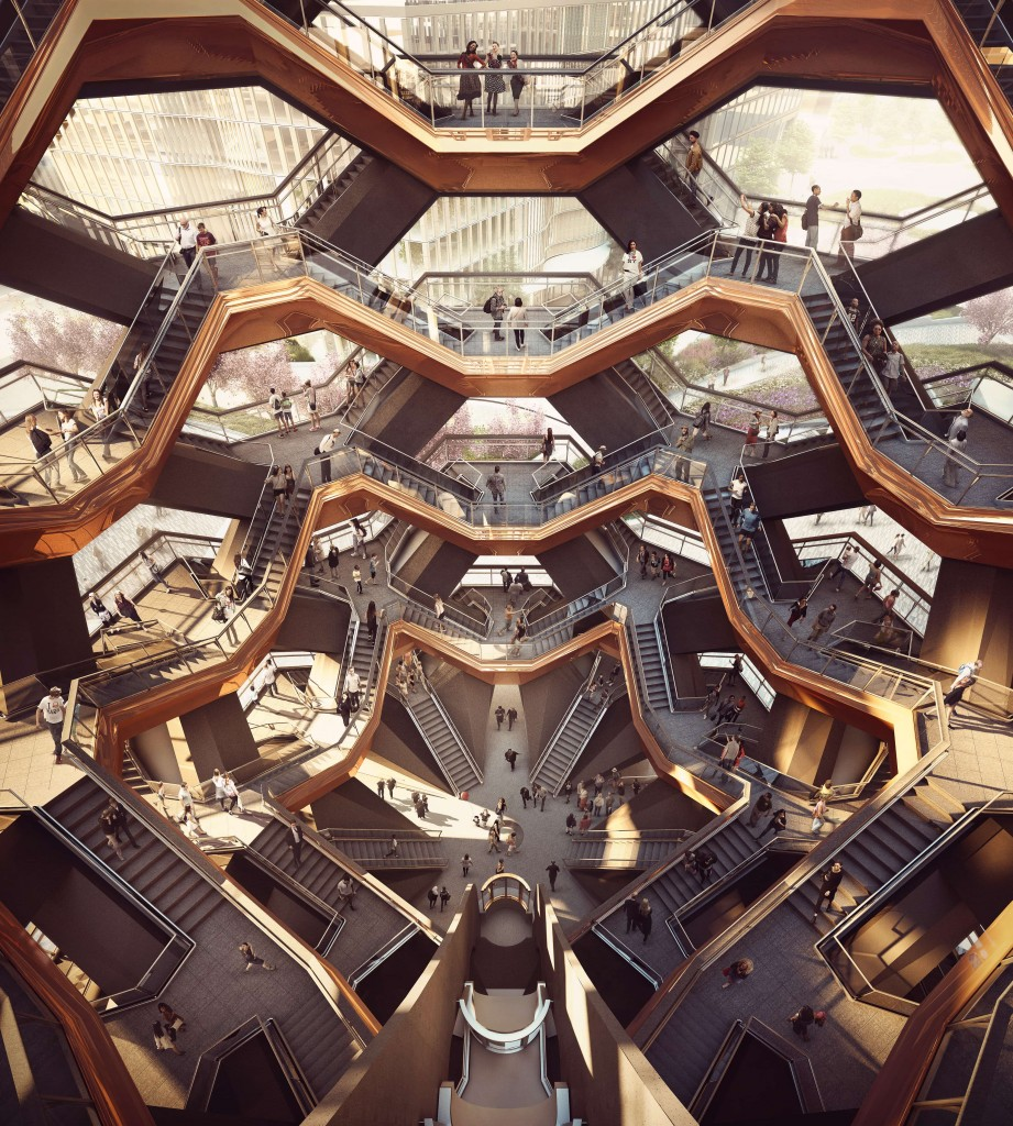 (1)Interior View of the Vessel - courtesy of Forbes Massie-Heatherwick Studio