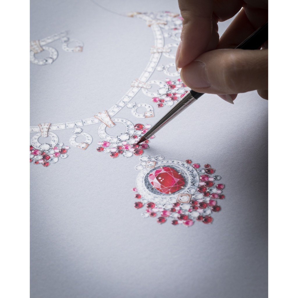 Jardin de rubis項鍊及可拆式胸針-工藝圖-02