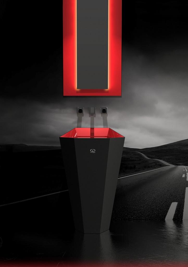 Glass Design - Lambo red