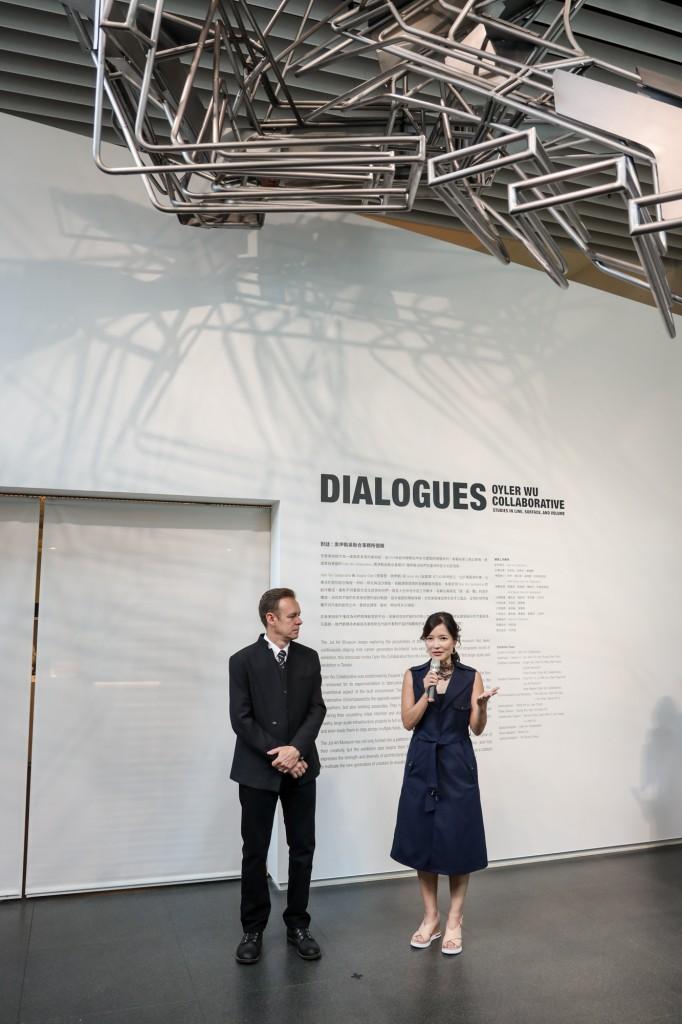 Oyler Wu Collaborative建築師夫妻檔 用線、面、體 開啟未來設計新對話 (由左至右:Dwayne Oyler、Jenny Wu) (© 忠泰美術館)