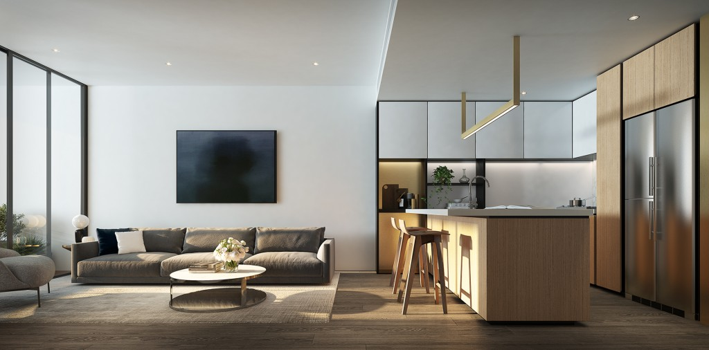 Avani Melbourne Box Hill Residences_ Two Bedroom Livingroom