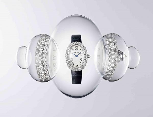 BAIGNOIRE腕錶-小型款-白K金鑽石鋪鑲-情境圖 (1)