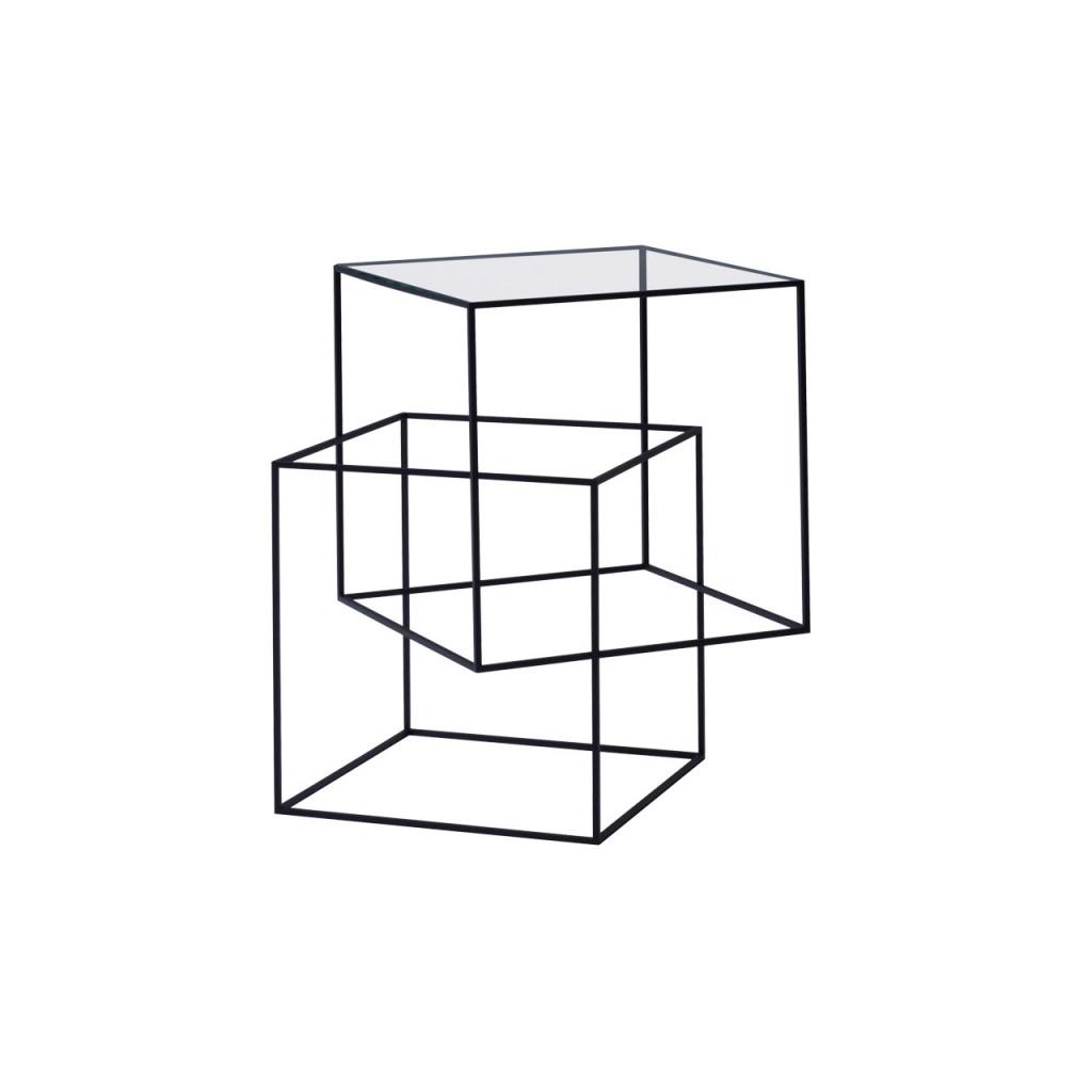 Cappellini_《Thin Black Table 錯視幻覺邊桌》_單品圖